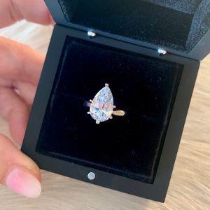 Diamond Nexus platinum solitaire engagement ring